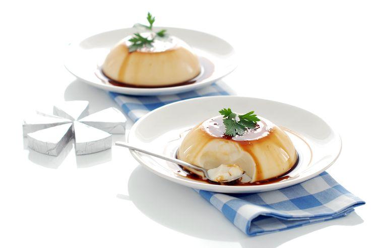 Flan de queso con cuajada, sin horno