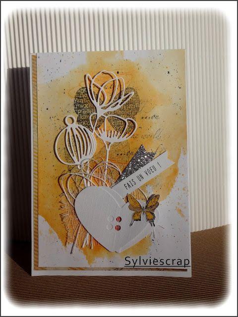 Coucou les filles !!!!!!   Vous vous souvenez du défi de Yalé sur le Coffe Scrap  ICI  ?  Voici ma troisième carte qui est plus proche des ...