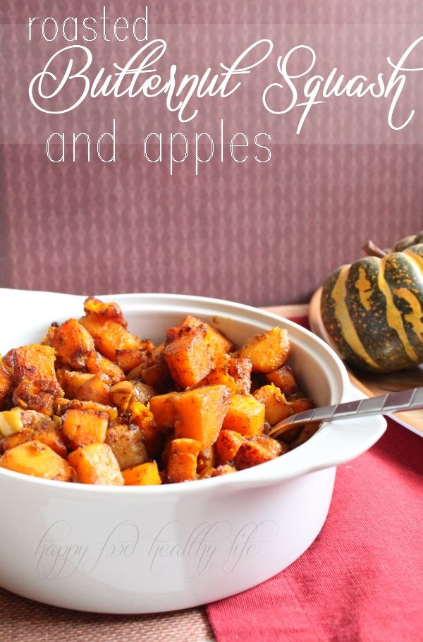 Roasted Butternut Squash and Apples - Do you have your Thanksgiving menu planned? THIS needs to be on it!