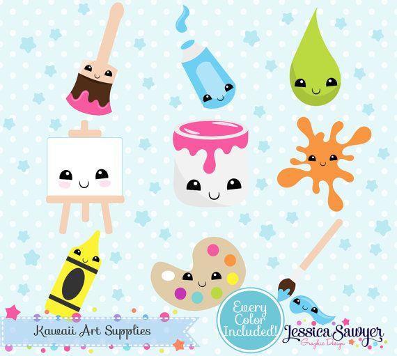 Instant Download Kawaii Art Clipart And Vectors For Planner Stickers And Crafts Kawaii Art Clip Art Kawaii Clipart