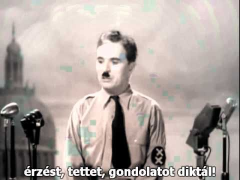 Charlie Chaplin- The Dictator Speech (Eng+Hun sub) - YouTube