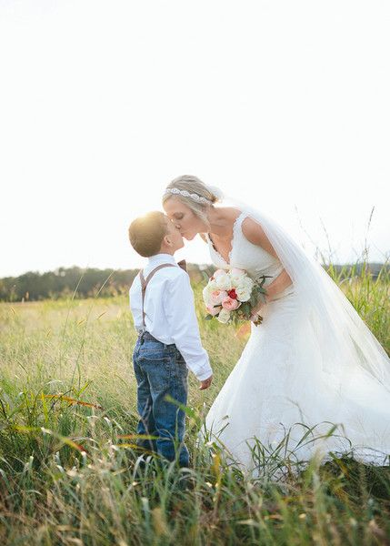 A sweet wedding day photo idea of the bride and her son {Brandy Angel Photography}