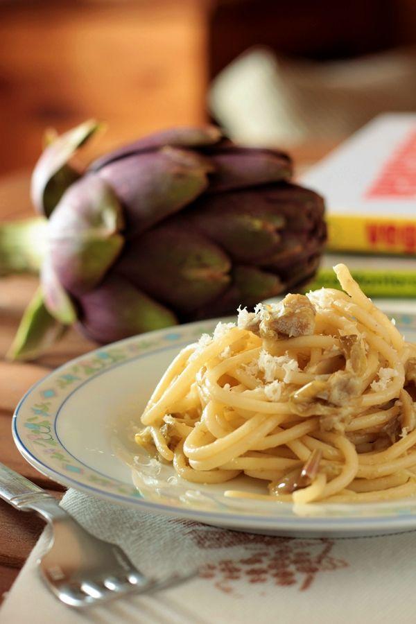 Ricetta spaghetti cacio e pepe ai carciofi con pentola a pressione