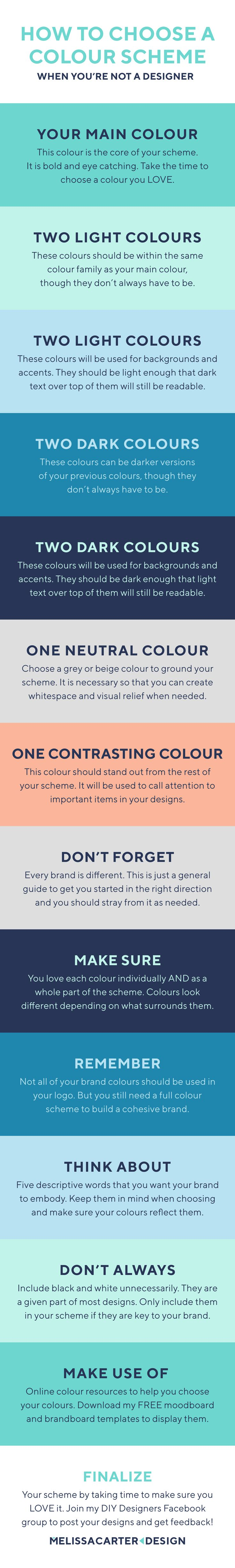 Your colour scheme is the core of your entire visual brand, so it's vital that you choose a good one. Here's how to create a gorgeous scheme on your own.