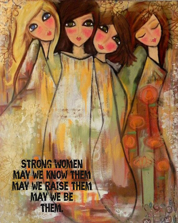 This is the 2012 version of my most popular selling card of four sisters. I created this for my sisters this year and now it is availble in print