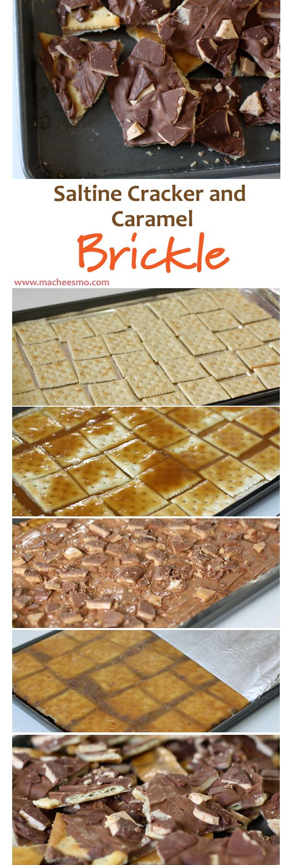 This cracker and caramel chocolate brickle is probably the most addictive sweet snack I know how to make. It only has a few ingredients but be sure to check out the post to learn a few tricks on assembly!