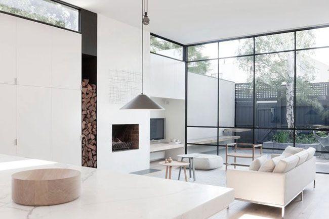 Grande baie vitr e fa on fen tre d 39 atelier fen tre for Baie vitree type atelier