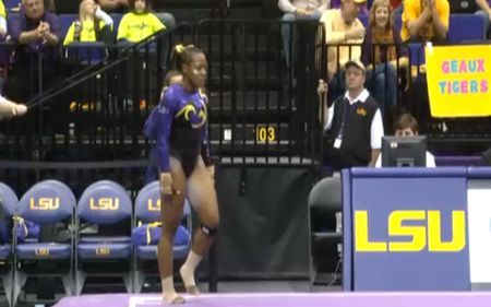 LSU Gymnast Absolutely Kills Hip-Hop Floor Routine - COLORLINES Lloimincia Hall is a perfect 10.