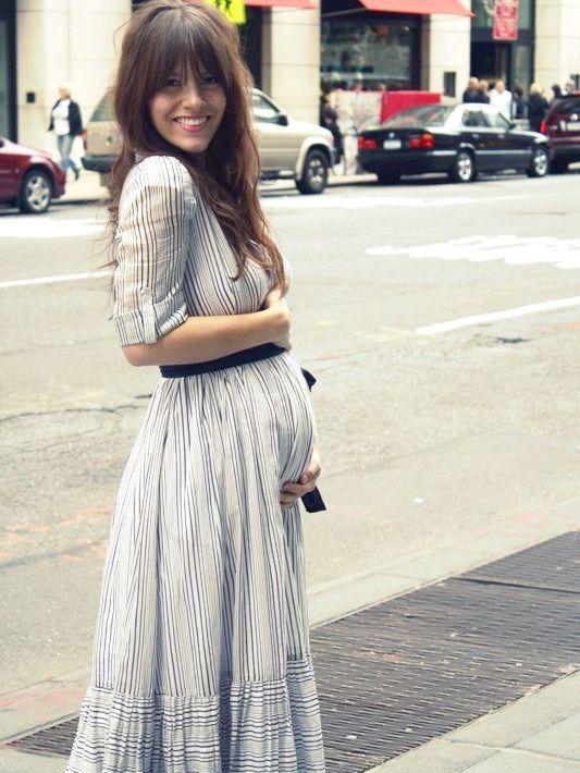 La robe longue, la meilleure alliée des femmes enceintes !