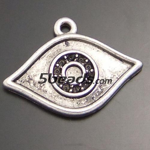 GraceAngie 30 ШТ. Античный Стиль Щепка Тон Драгоценности Глаз Форма Шарм Подвеска Поиск 16*9 ММ 02430