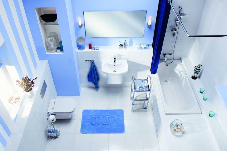 Blue bathroom #inspiration #bathroom #design #obipolska #blue #bath #renovation