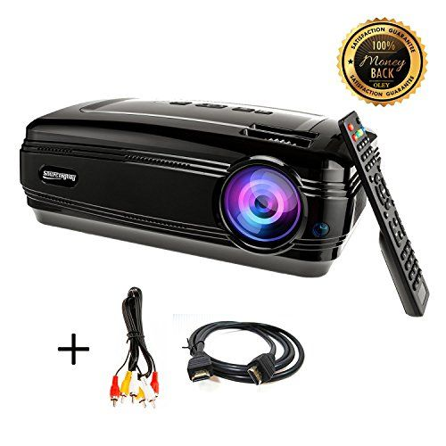 HD projector, Sourcingbay BY58 1080P 3200 Lumens Efficiency LED Video Projectors Multimedia TV Home Cinema Theater Support Xbox VGA USB Speaker HDMI for Outdoor Movie Night,Laptop Smartphone Box. ◆1080P IMAGE PROJECTION - Sourcingbay BY58 3200 lumens LED HD Video Projector unwind your eyes from TV, Smartphone and PC., best offer