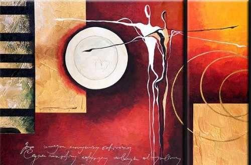 Cuadros abstractos modernos texturados tripticos for Imagenes de cuadros abstractos con texturas