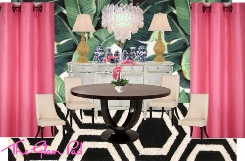 The Glam Pad: Our Banana Leaf Dining Room