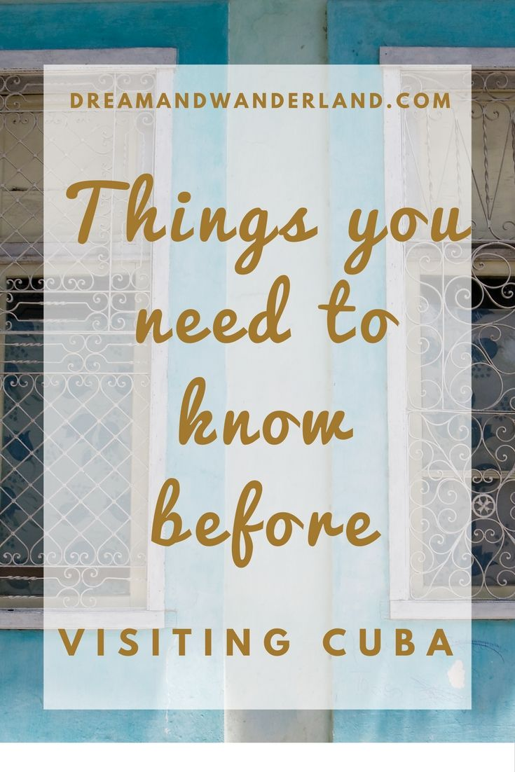 10 essential things you need to know before visiting #Cuba #ultimate #travel #checklist
