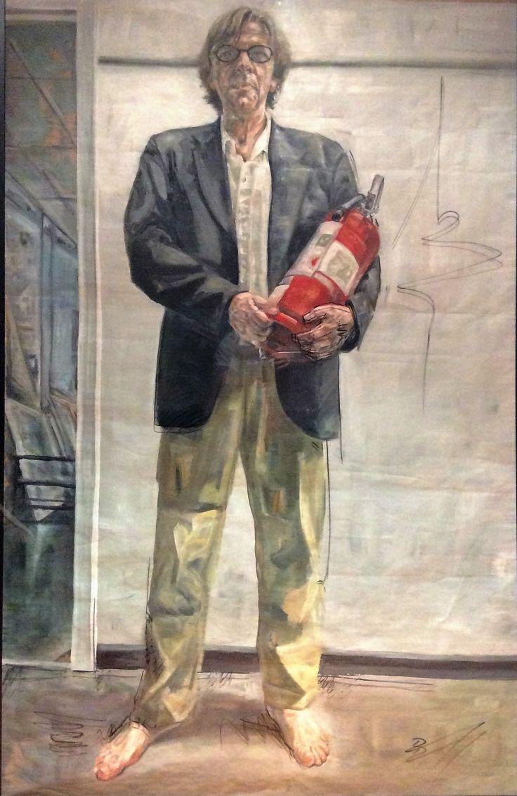 Lewis Miller by Daniel Butterworth Acrylic on paper (framed) 150 x 250 available via mondoartgallery.com