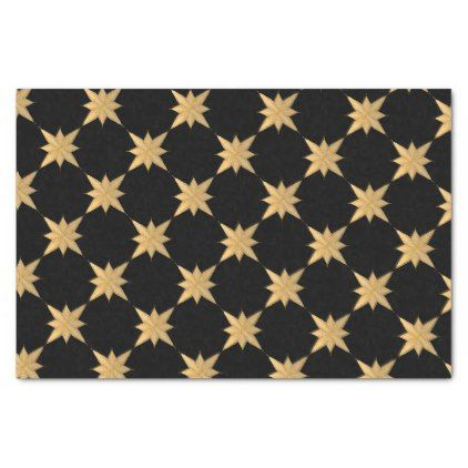 Gold Christmas Sketched Star on black Tissue Paper  $2.00  by carriejoyart  - cyo diy customize personalize unique