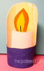 askarteluohje kynttilä | Hepokatti.fi - puuhaa ja tekemistä lapsille >> askarteluohjeita lapsille, värityskuvia, tehtäviä lapsille, leikkivinkkejä ja pelejä