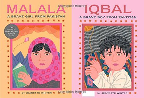 This two-side text tells how Malala Yoousafzai and Iqbal Masih stood up for their rights in Pakistan. Iqbal fought against child labor and was shot and killed in 1995. Malala spoke out against the Taliban and advocated for girls to attend school. She was also shot but survived and continues to advocate for women's rights.