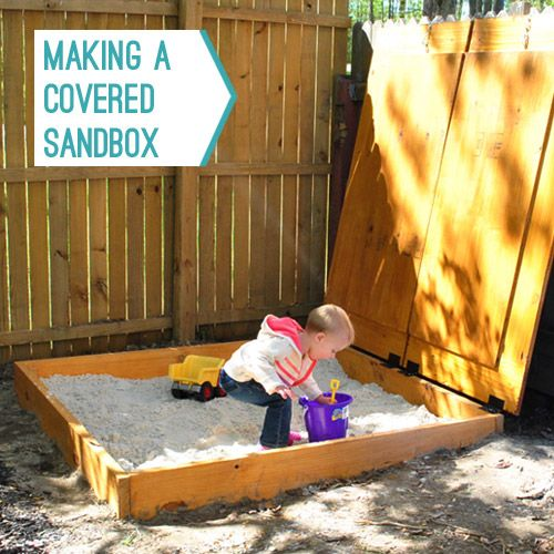 Blog DIY sandbox becomes rockbox by Young House Love.  To keep in mind for our playground makeover