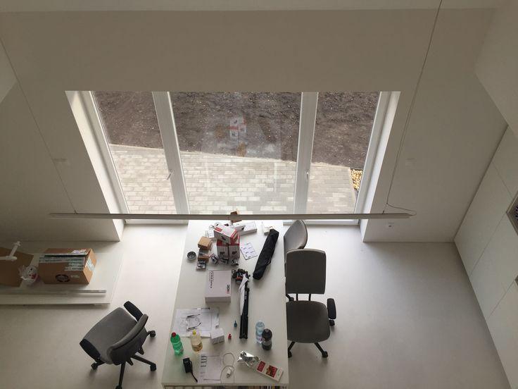 Inside in white office house.