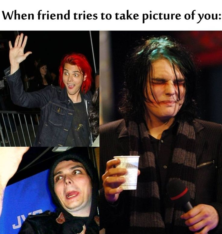 Yes but Gerard still like always looks fabulous in even these pictures while I look like a piece of shit in ever picture ever
