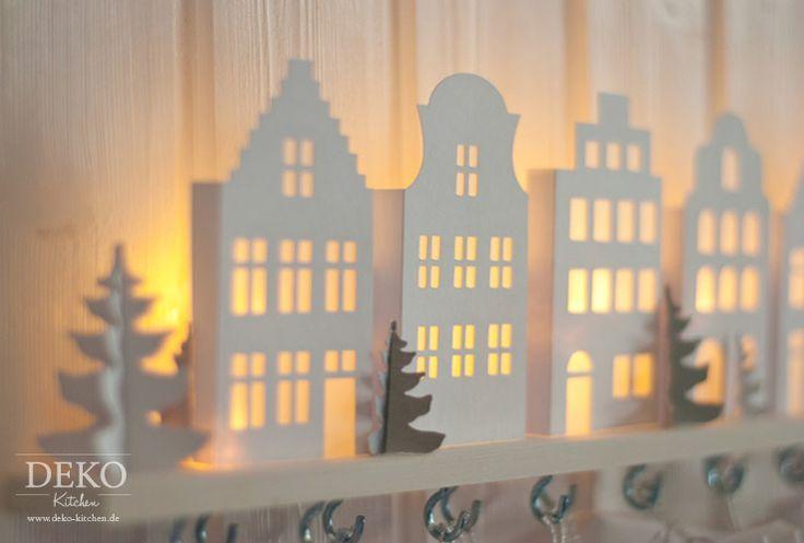 Ber ideen zu papierh user auf pinterest - Weihnachtliche dekorationsideen ...
