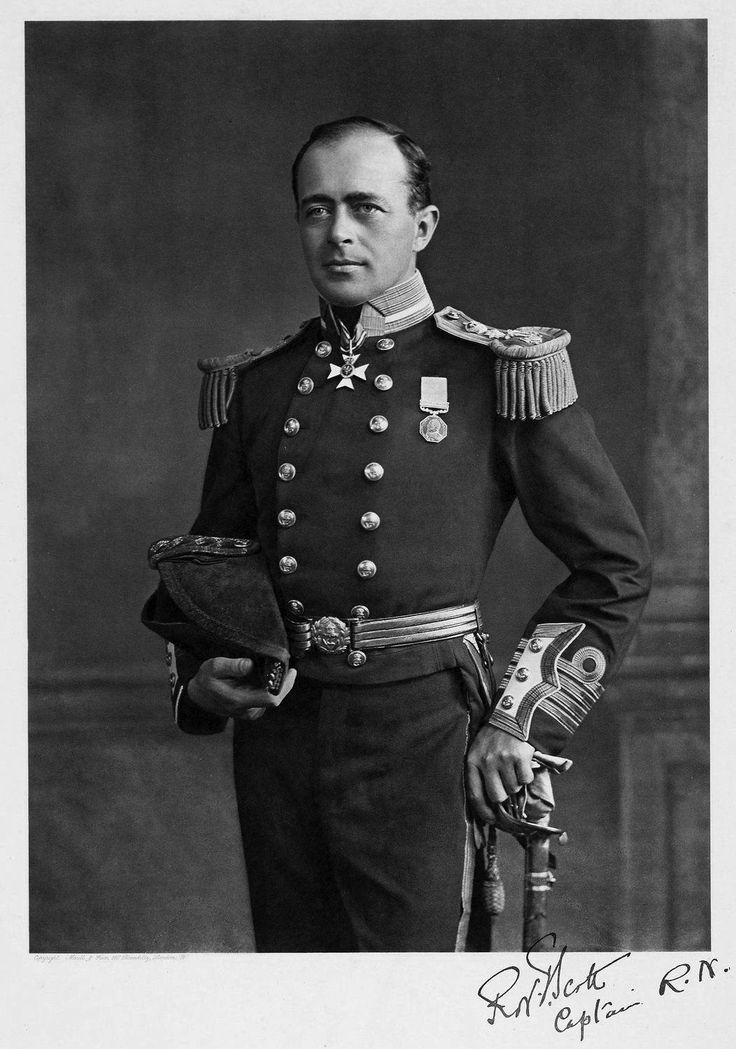 Robert Falcon Scott (1868 – 1912) Royal Navy officer & explorer who led two expeditions to the Antarctic regions: the Discovery Expedition, 1901–04, & the ill-fated Terra Nova Expedition, 1910–13. During this 2nd venture, Scott led a party of five which reached the South Pole on 17 January 1912, only to find that they had been preceded by Roald Amundsen's Norwegian expedition. On their return journey, Scott & his four comrades all died from a combination of exhaustion, starvation & extreme…