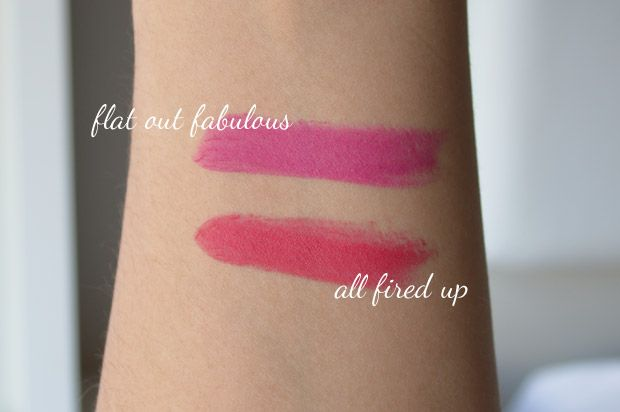 Batons All Fired Up e Flat Out Fabulous MAC Retro Matte