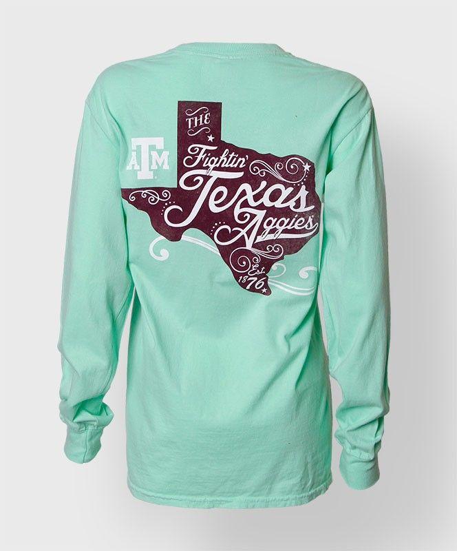Texas A&M long sleeve t-shirt. #AggieGifts #AggieStyle
