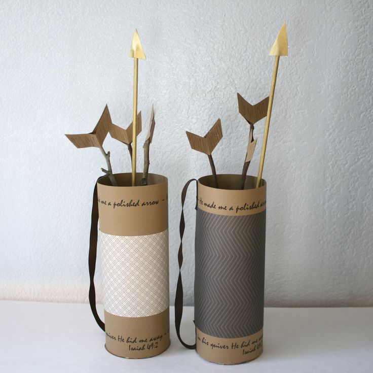 Marigold Mom: DIY Quiver & Arrows - super cheap and cute project for Valentines Day or Hunger Games party