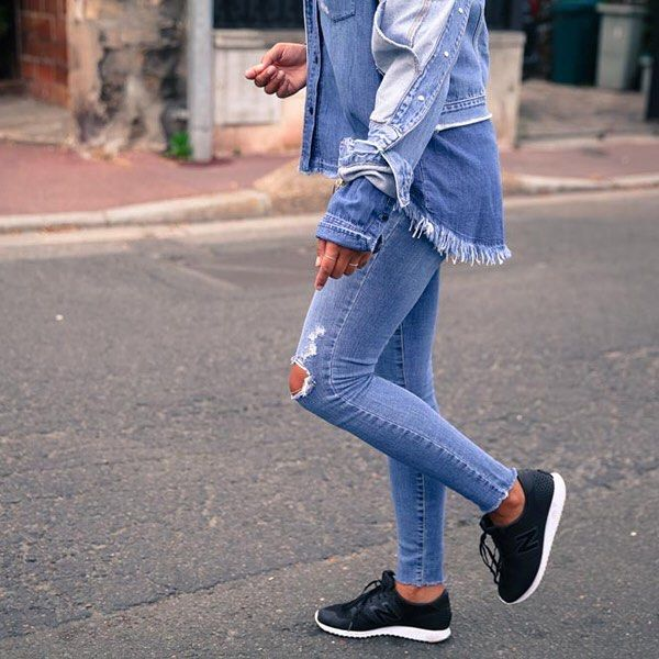 Modern sophistication with authentic denim roots | @troprouge does triple denim in our #CultSkinny Ankle Prize, Curved Shirt and Heriloom Jacket | Online Now #NobodyDenim