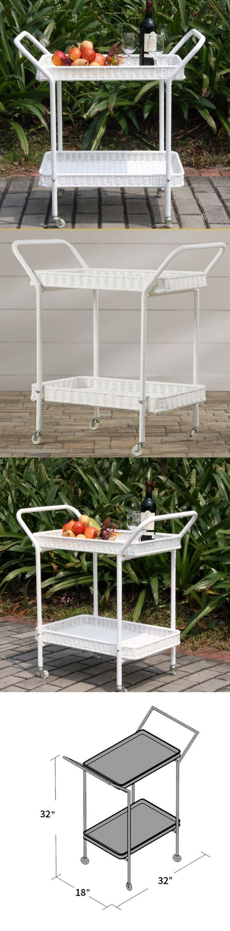 Outdoor buffet table serving cart as well century modern console table - Bar Carts And Serving Carts 183320 Wicker Patio Serving Cart Table Beverage Outdoor Indoor Vintage