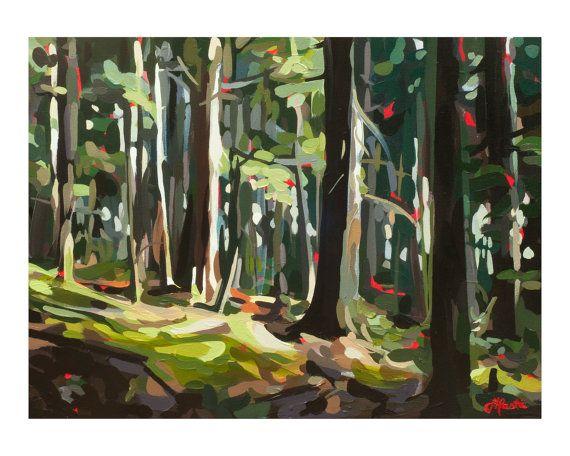 "Art Print // ""Along the Trail"" // Joanne Hastie original artwork printed on archival paper"