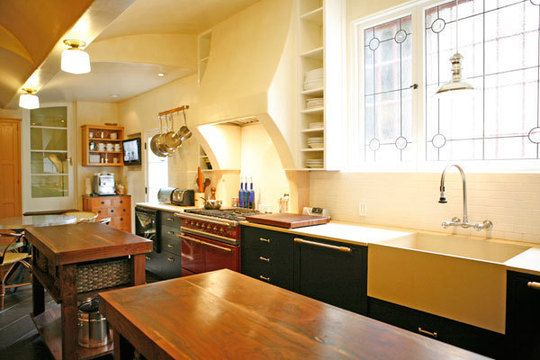 Practically perfect.Bright Kitchens, Dreams Kitchens, Apartments Therapy, Dark Cabinets,  Eatery, Kitchens Renovation, French Range, Kitchens Dreams, Kitchen Renovations