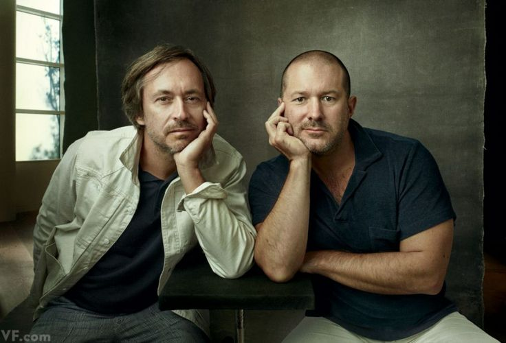 Marc Newson and Jonathan Ive. Photographed by Annie Leibovitz.