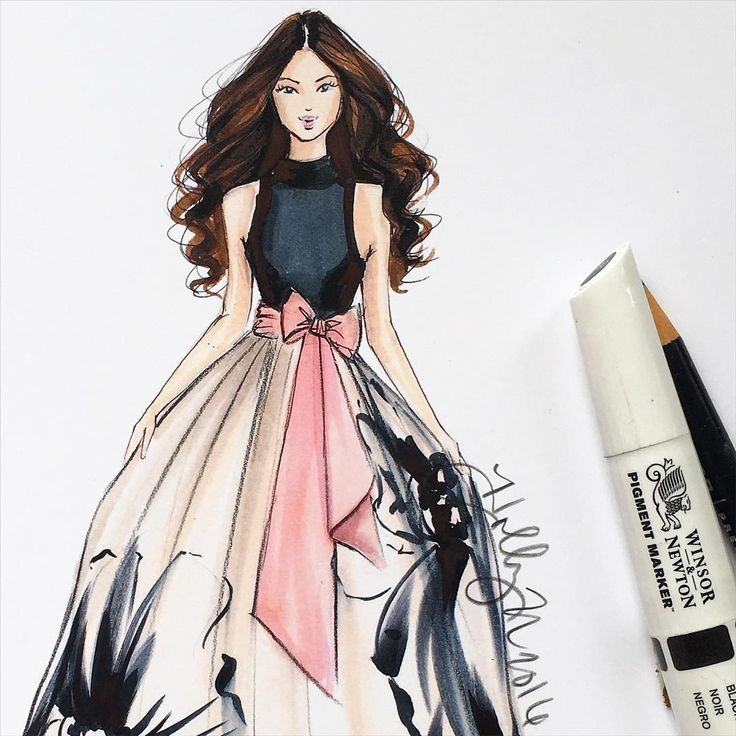 25 Great Ideas About Fashion Illustration Hair On