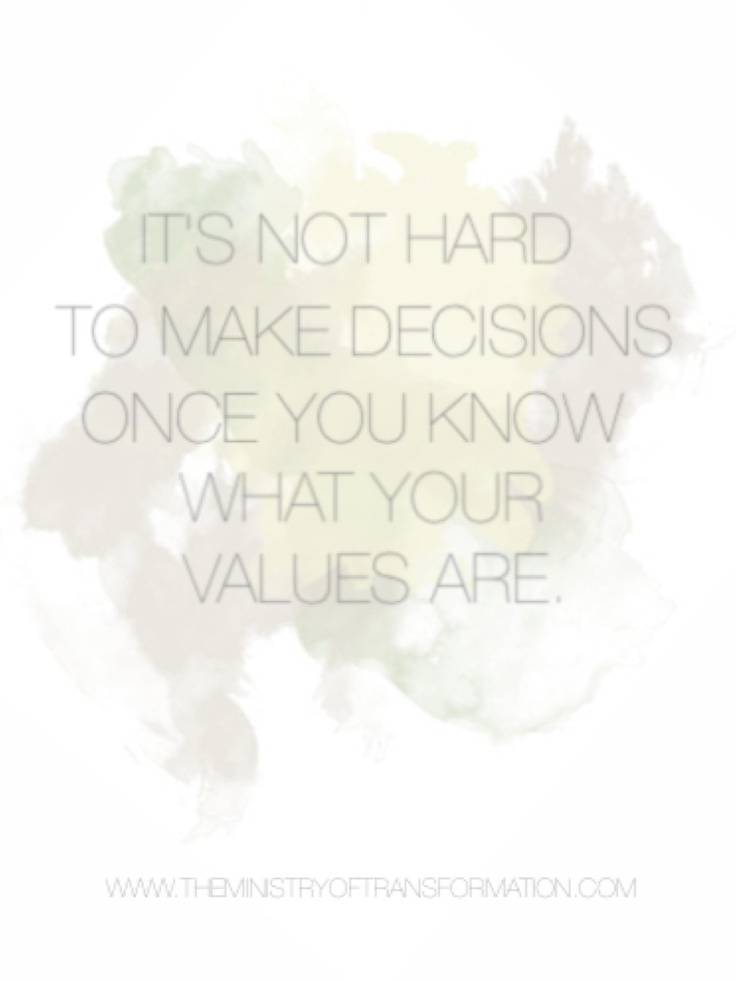 Are you clear what your most deeply held and authentic values are? Why not book your *FREE* 15 minutes of decision making mojo with the Decision Making Diva today and be sure! http://www.timetrade.com/book/S2Q56
