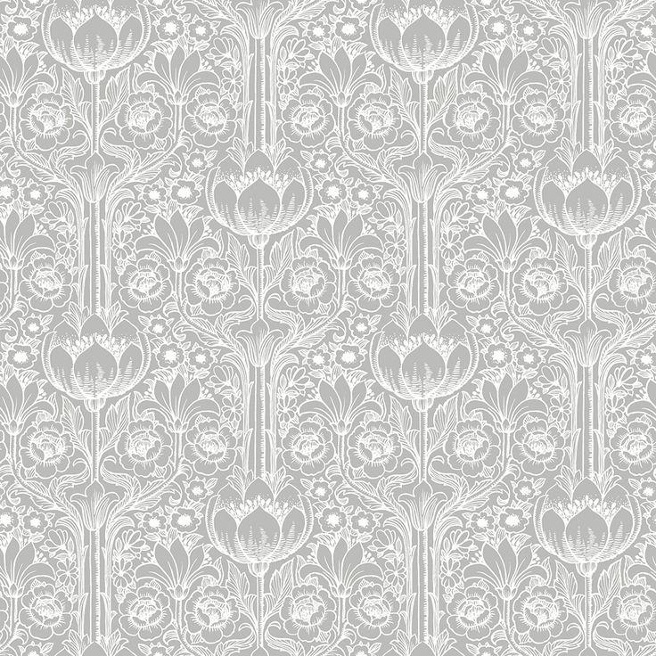Rosegarden Grey wallpaper by Eco Wallpaper