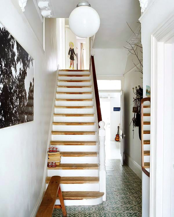 stairs and tiled floor - via decordemon: FRANCINE KEYS BRIGHT VICTORIAN HOUSE