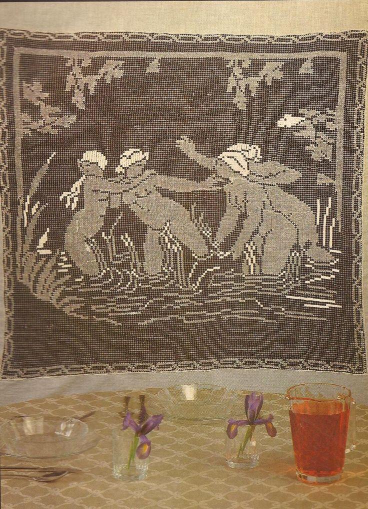 """#9 Panel Decorativo a Crochet """"Las Bañistas"""""""