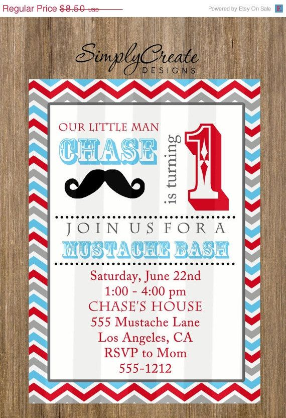salemustachepartyinvitation5x7invitebysimplycreatedesigns - Mustache Party Invitations