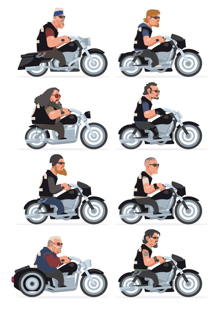Sons Of Anarchy // Clay // Jax // Bobby // Tig // Opie // Juice // Piney // Chibs