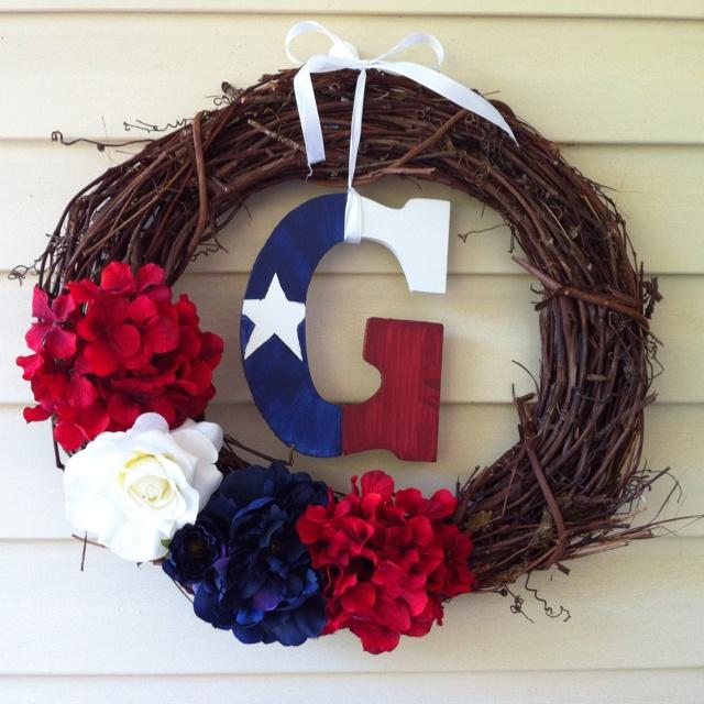 Simple Texas Wreath