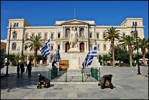 Syros Island - Townhall - Cyclades - Greece - Δημαρχειο / Έργο του Ερνέστου Τσίλλερ #syros