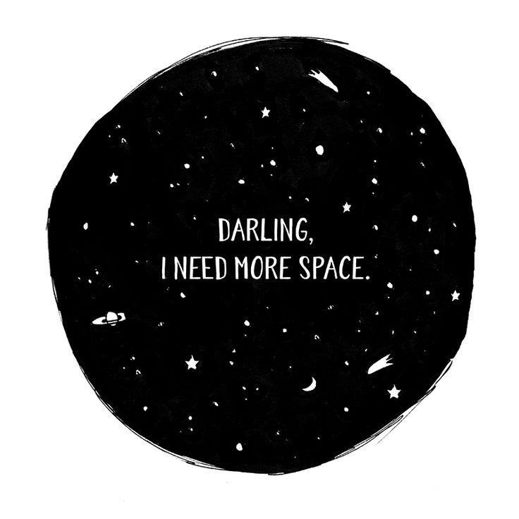 I need more space | illustration by Charlota Blunarova |  www.charlotablunarova.cz