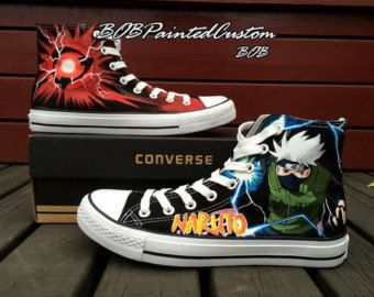 Black Anime Sneaker Customizable Converse Shoes for Men Women Hand Painted Canvas Shoes Best Presents for Sale