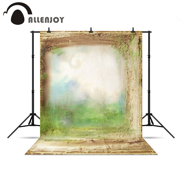 Allenjoy Photo background countryside wonderland Grass lawn soil children Photophone christmas photo backdrop for a photo shoot