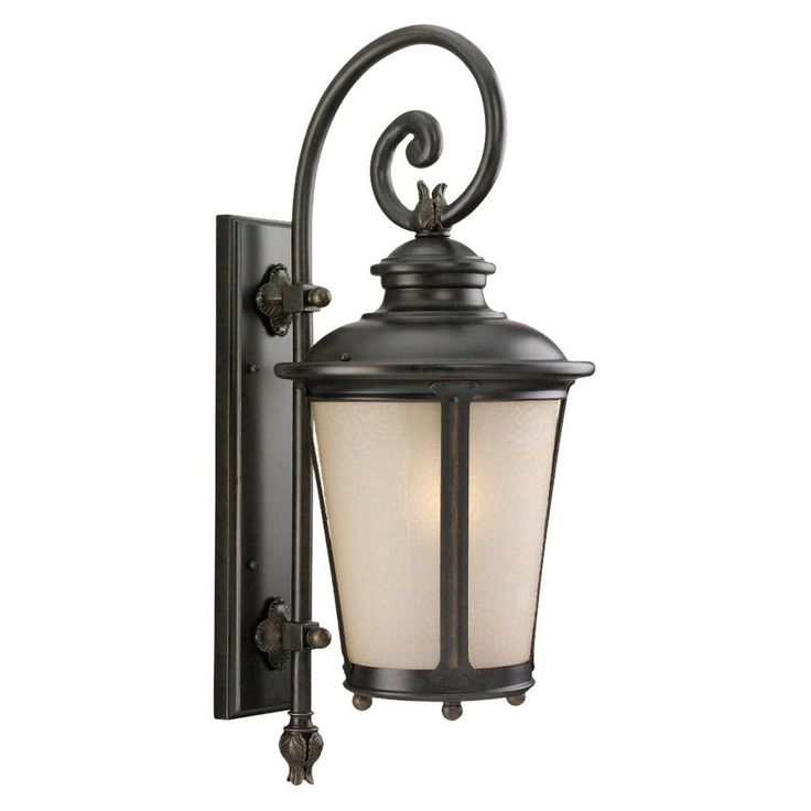 Sea Gull 1 Light Outdoor Wall Lantern - Burled Iron, Incandescent (Light Bulb)