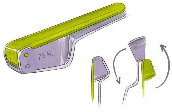 Zeal Garlic Press by Curventa, via Behance